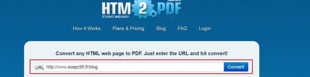 convertir page web en pdf
