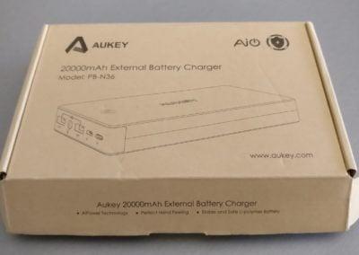 déballage produit aukey batterie externe