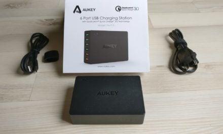 Test : Chargeur USB secteur de chez AUKEY