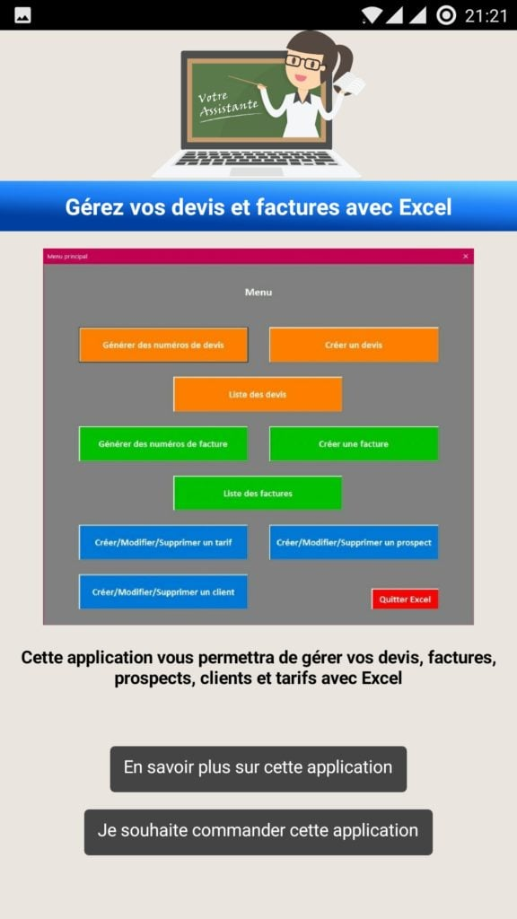 Application Android Votre Assistante Tutoriels Office