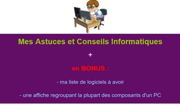 Mon Ebook : Astuces et Conseils Informatiques