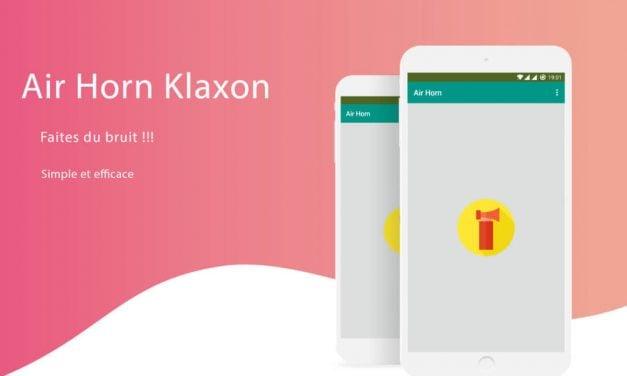 Application Android : Klaxon à Air