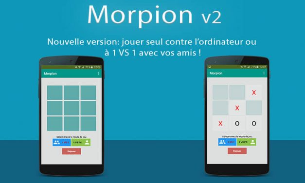 Application Android : Morpion v2