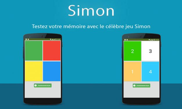 Application Android : Simon – Memory Game