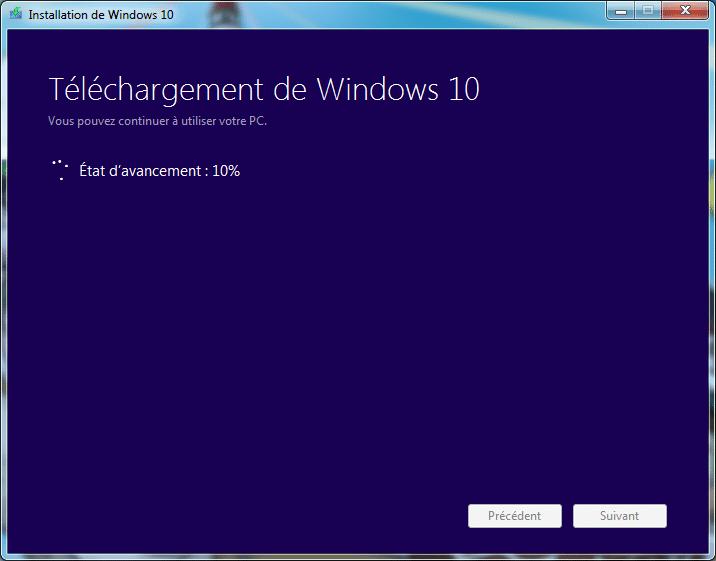mise a jour windows 7 vers windows 10