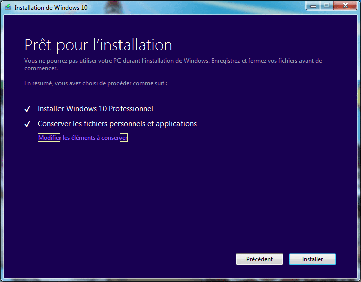 installer windows 10