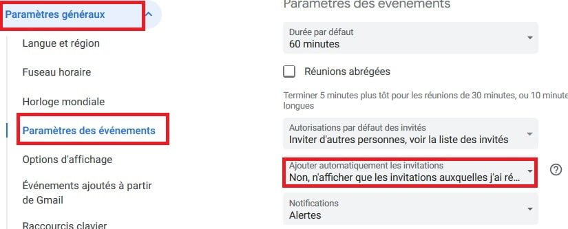 phishing google agenda spams