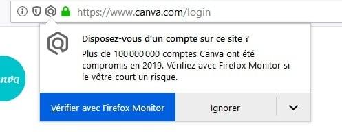 firefox averti quand vous visitez un site piraté