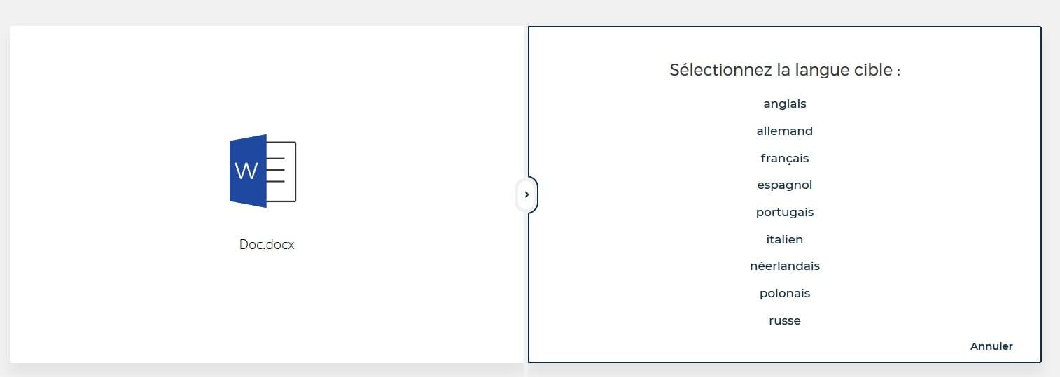 deppl traduction document word