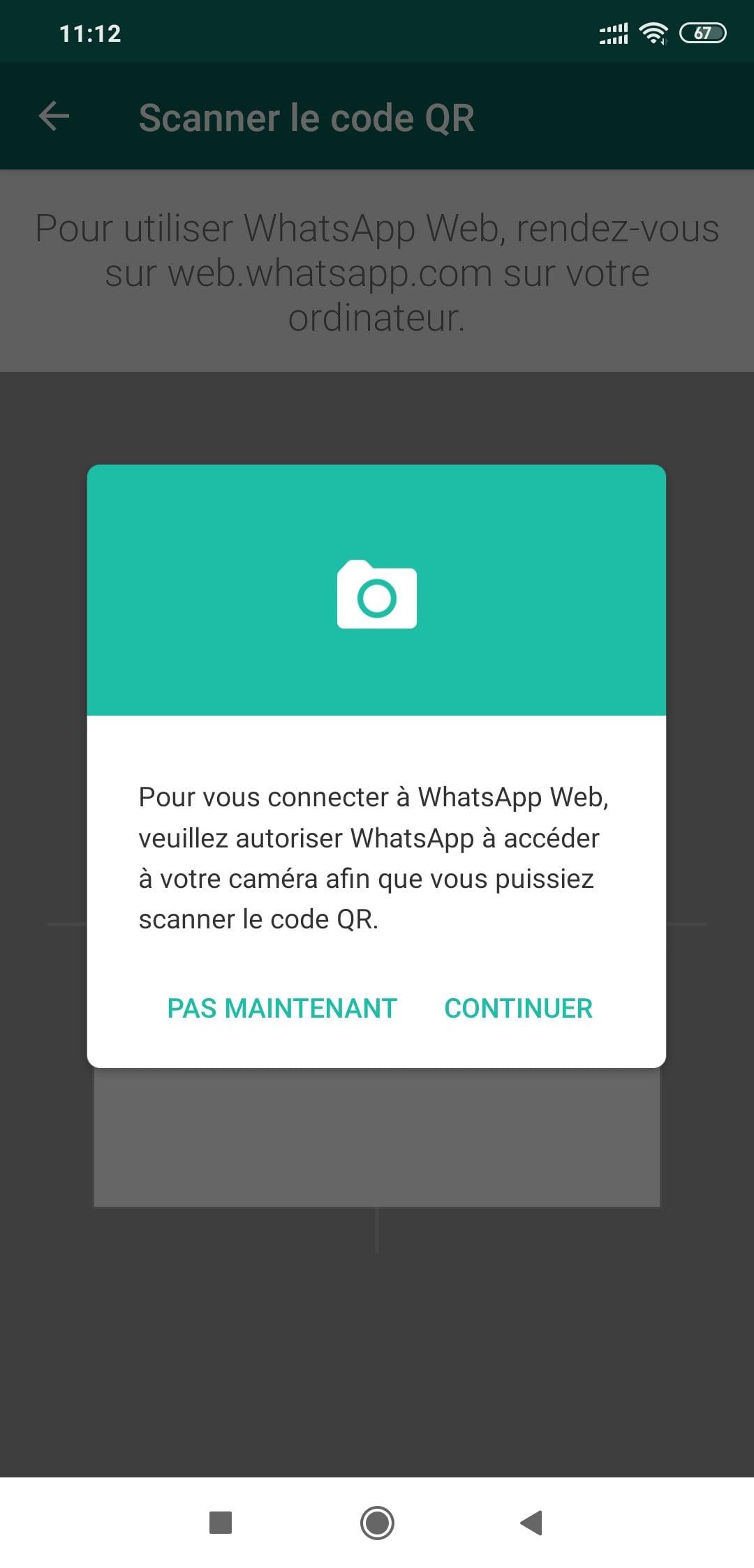 whastapp web pour ordinateur pc