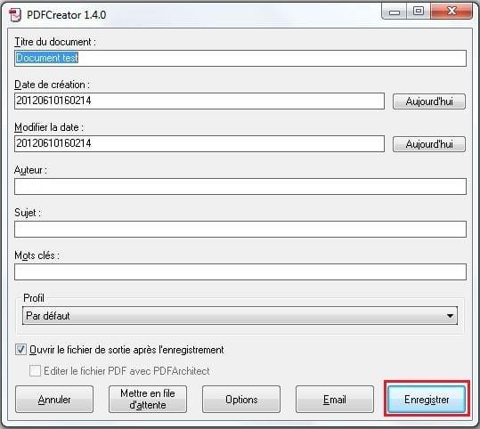 conversion Word en PDF
