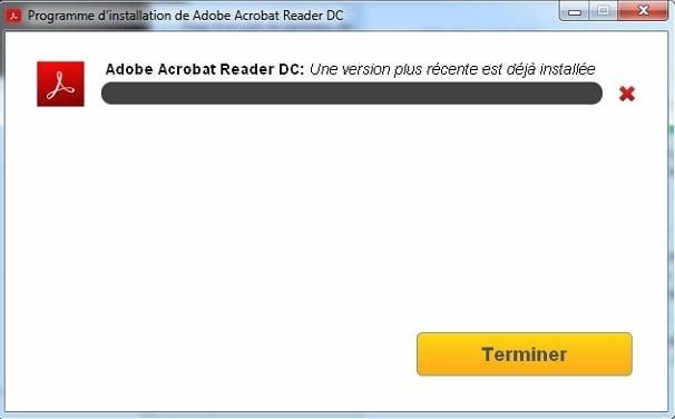 Acrobat Reader est déjà installée